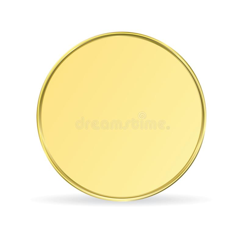 Gold coin sign. Isolated on a white background stock illustration