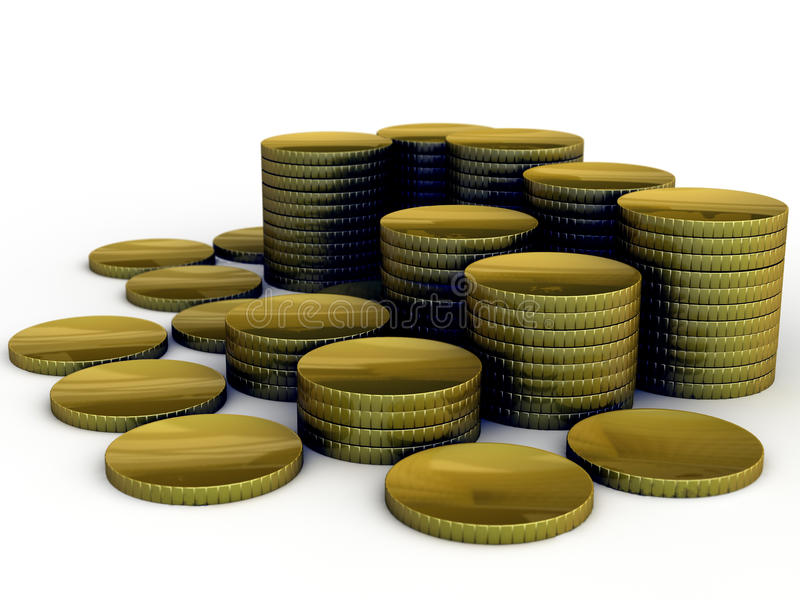 Gold Coin Stack vector illustration