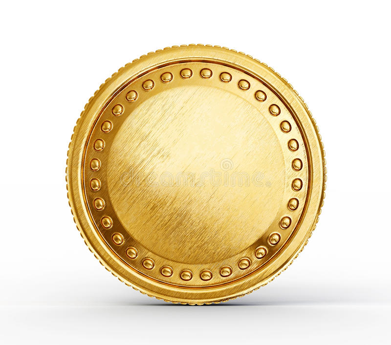 Gold coin royalty free illustration