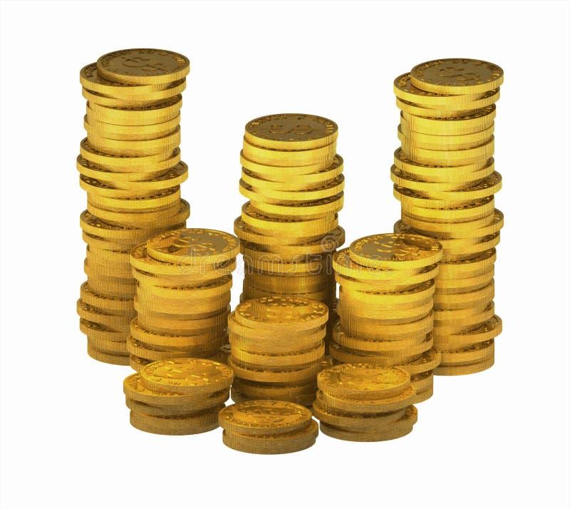 Gold_coins_00 ilustração do vetor