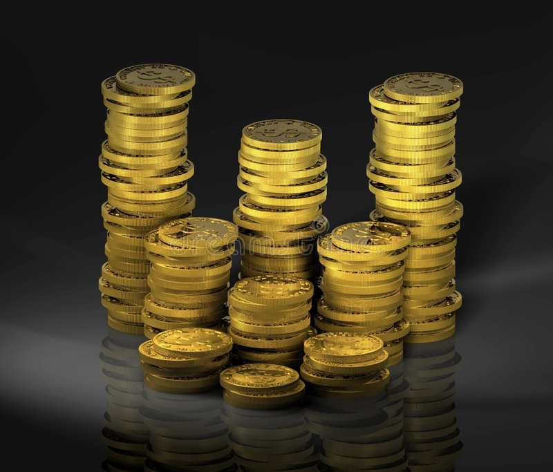 Gold_coins_01 Stock Images