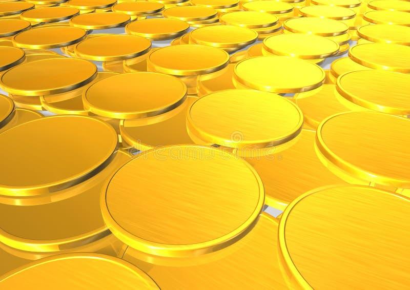 Gold coins vector illustration