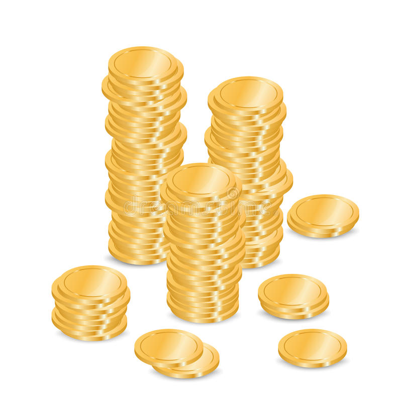 Gold coins vector illustration