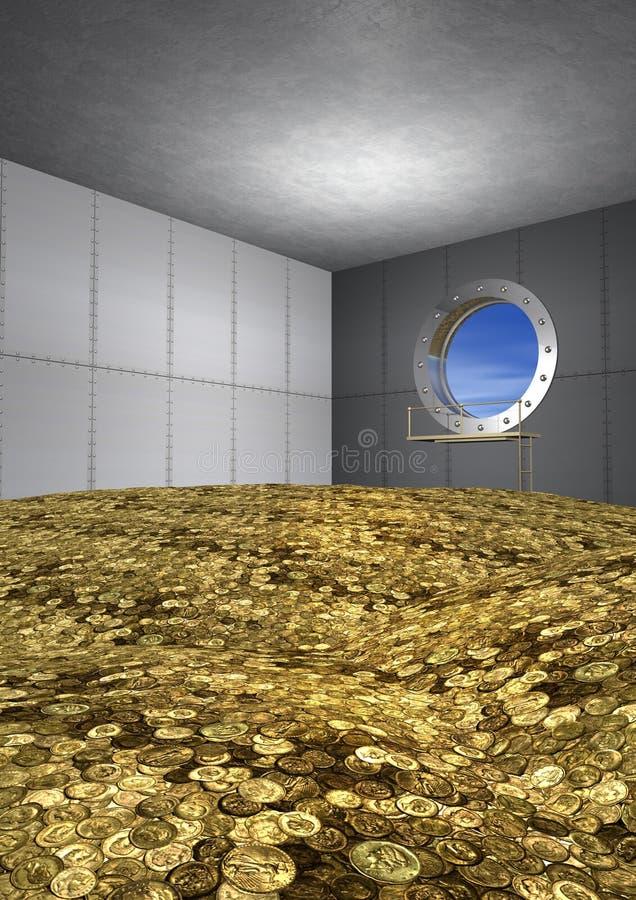 Download Gold coins stock illustration. Illustration of amount - 26321964