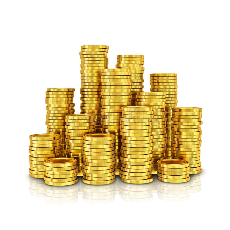 Free Gold Coins Royalty Free Stock Photo - 40466565