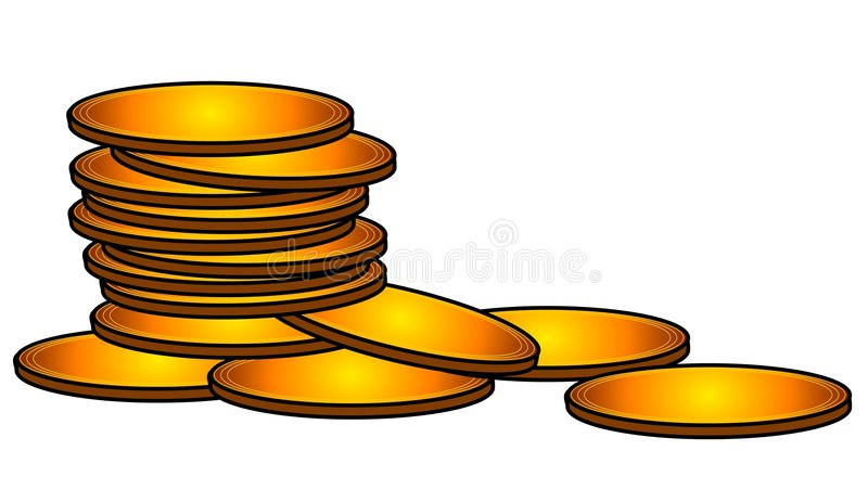 gold coins cash money clip art stock illustration illustration of rh dreamstime com pirate gold coin clipart free pirate gold coins clipart