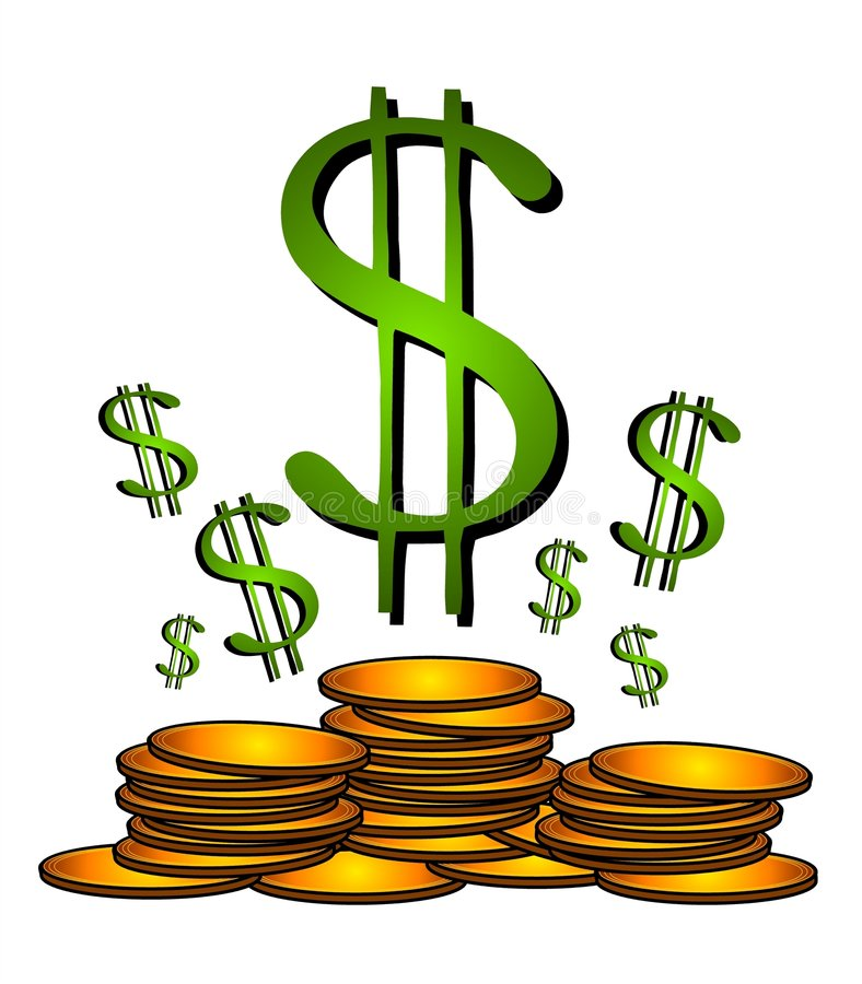 gold coins dollar sign clipart stock illustration illustration of rh dreamstime com  money sign clipart