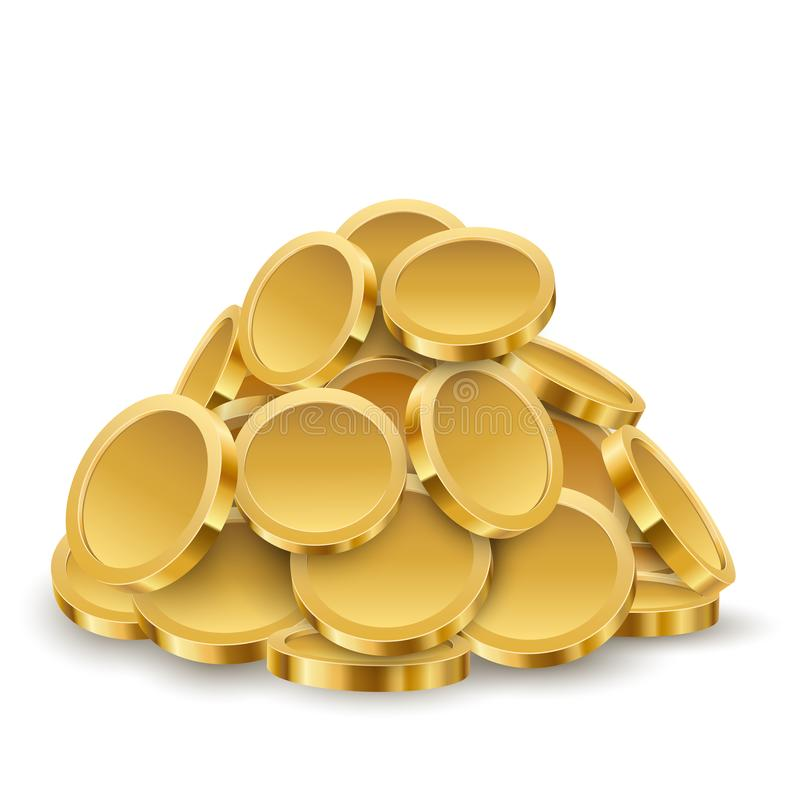 Gold Coins Pile royalty free illustration