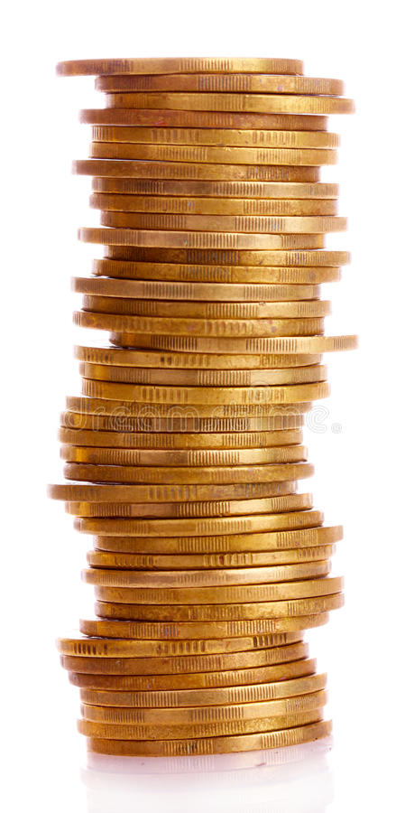 Download Gold Coins And Plant Isolated. Ukrainian Coins Stock Image - Image: 20118701