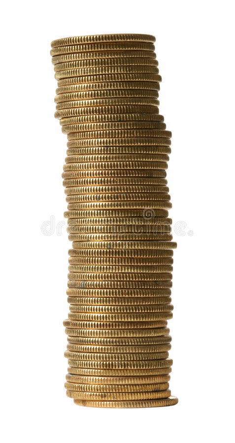 Free Gold Coins With Clipping Path Stock Photo - 553110