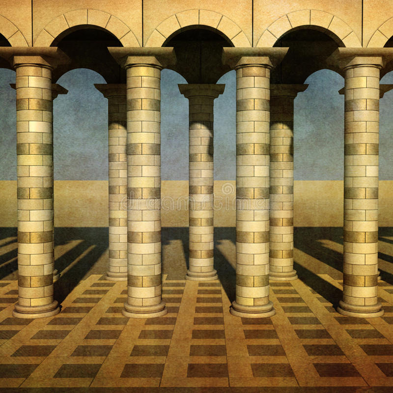 Download Gold Collonade stock image. Image of pillar, orient, pattern - 18351287
