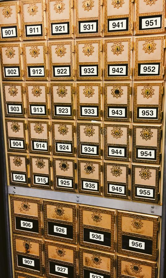Ornate Mailboxes royalty free stock photo