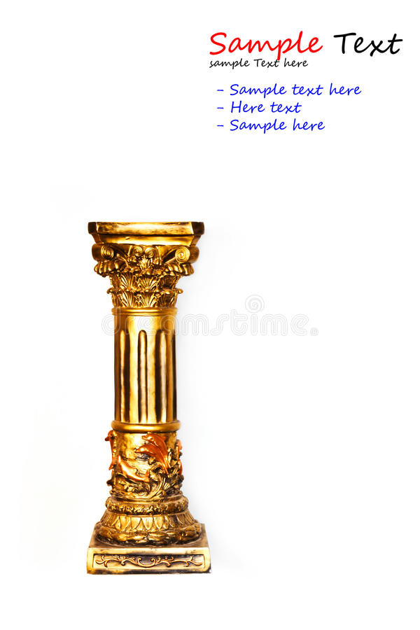 Free Gold Column Isolated Royalty Free Stock Photos - 21992028