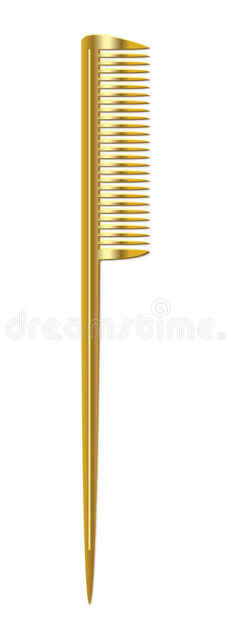 Gold Comb. Barber Hair Barber Tools vector illustration