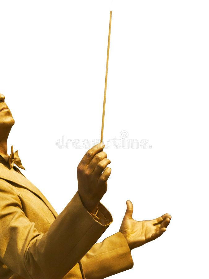Free Gold Conductor S Hands Royalty Free Stock Images - 6397649
