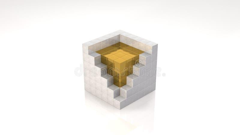 Gold Core royalty free illustration