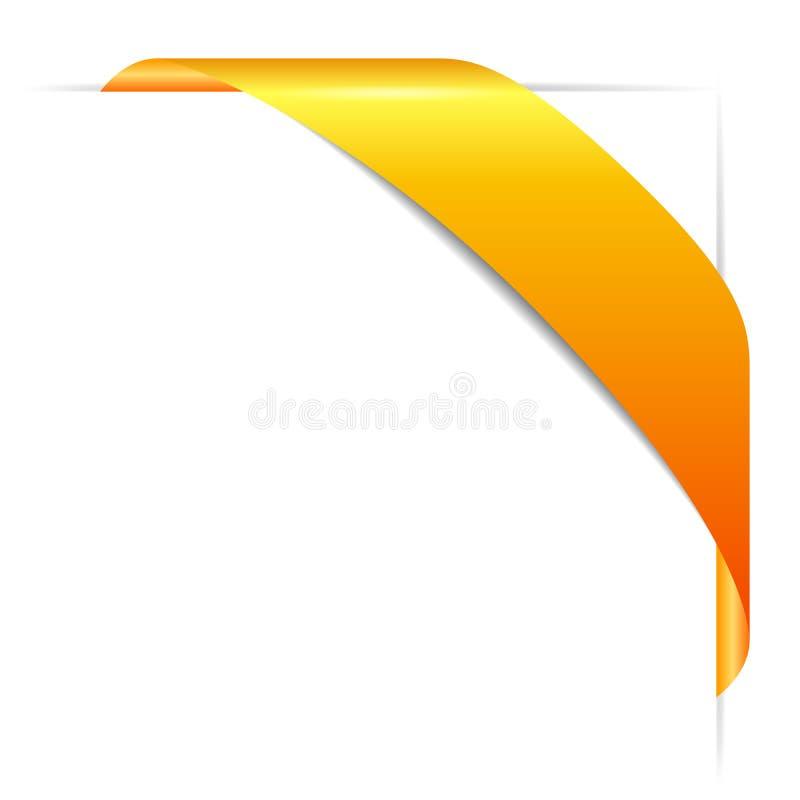 Download Gold Corner Ribbon Stock Vector Illustration Of Decoration