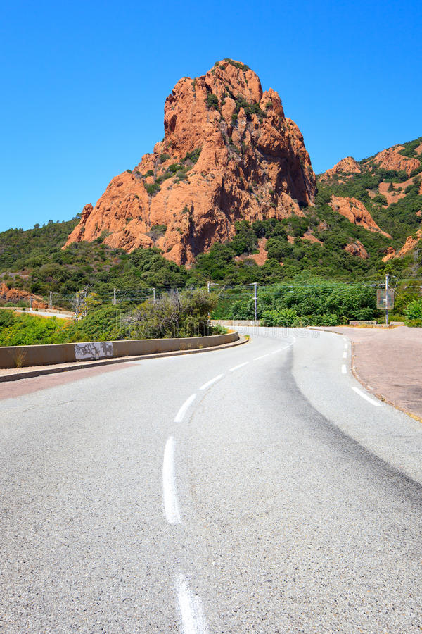 Gold Corniche scenic road. Esterel, Provence royalty free stock images