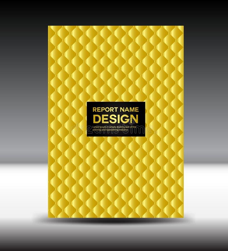 Gold Cover template vector illustration stock illustration