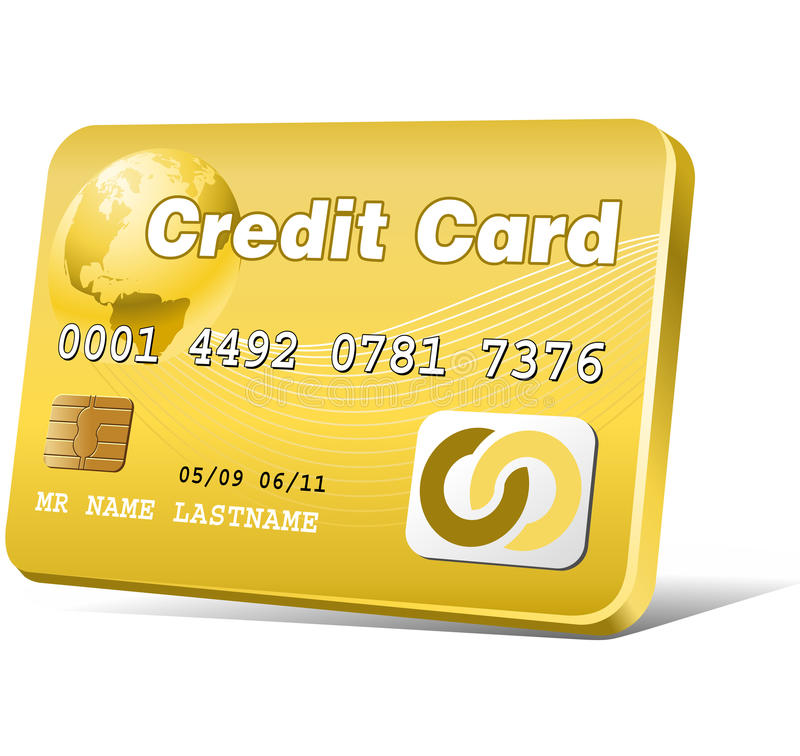 Download Gold credit card stock vector. Image of customer, icon - 13284163