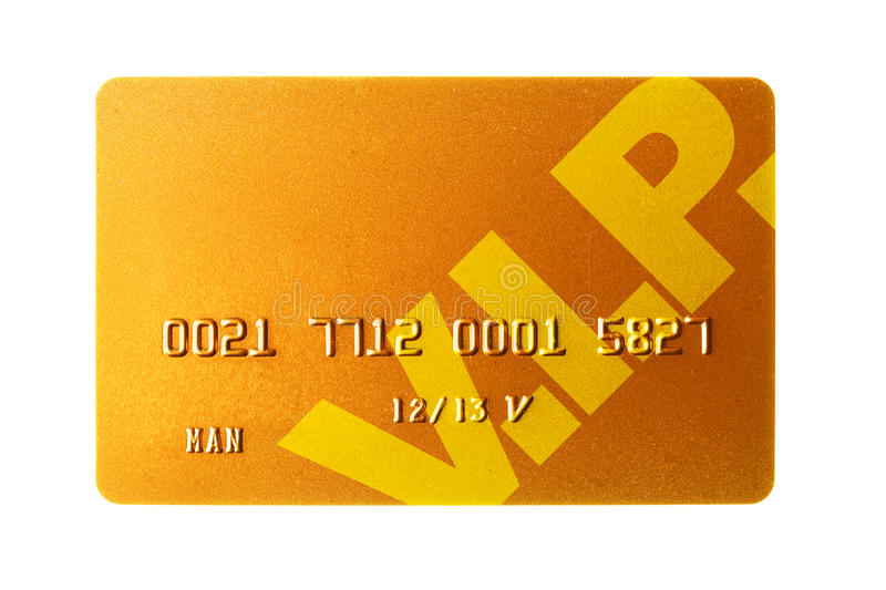 Gold credit card stock photography
