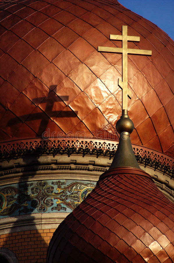 Download Gold croix on old church stock photo. Image of dome, detail - 123942