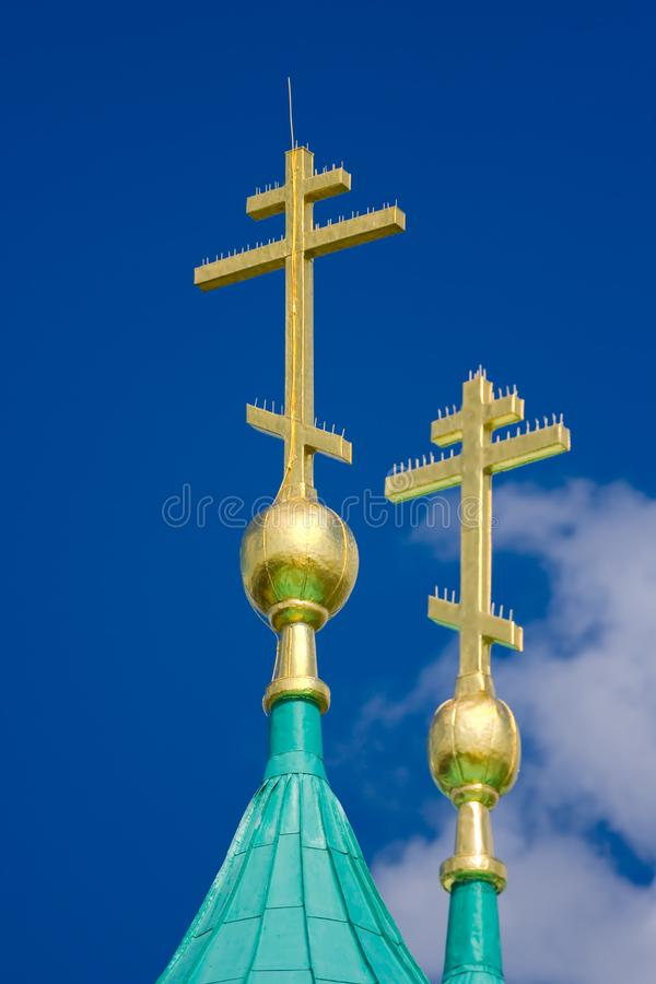 Download Gold cross stock photo. Image of majestic, symbol, golden - 2959986