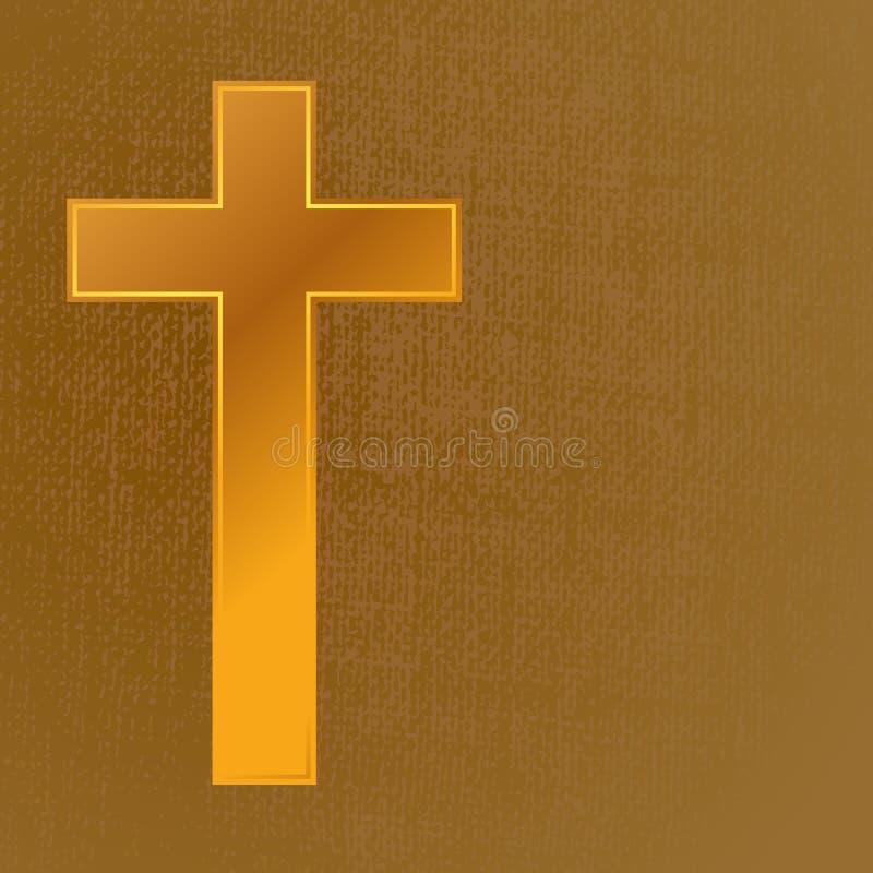 Gold cross royalty free illustration