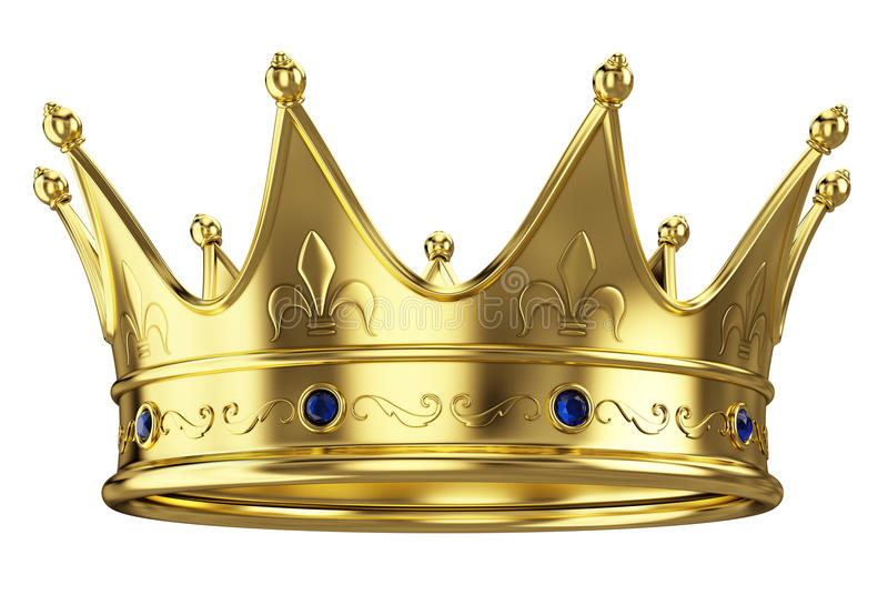 Gold crown stock illustration