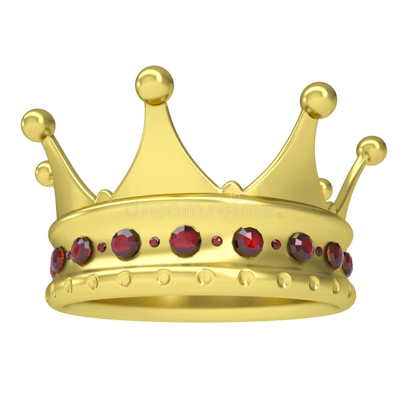 Download Gold Crown Decorated With Rubies Stock Illustration - Image: 31297696