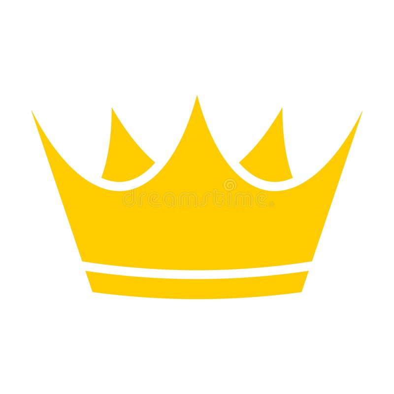 Gold crown icon, Crown logo stock illustration