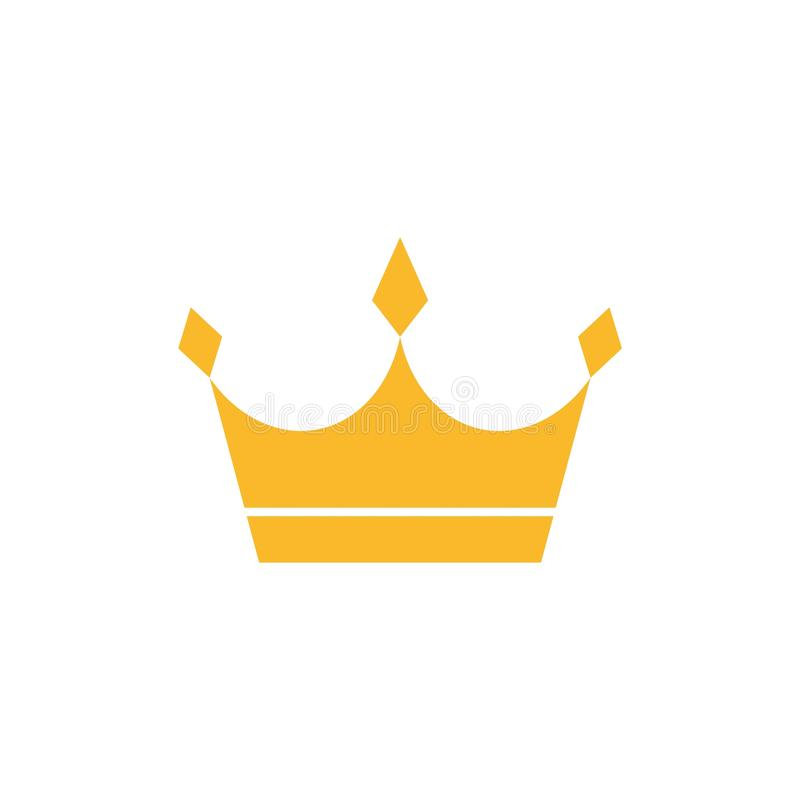 Gold crown icon or logo vector illustration