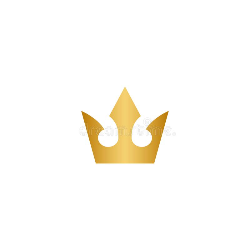 Gold crown logo icon stock illustration