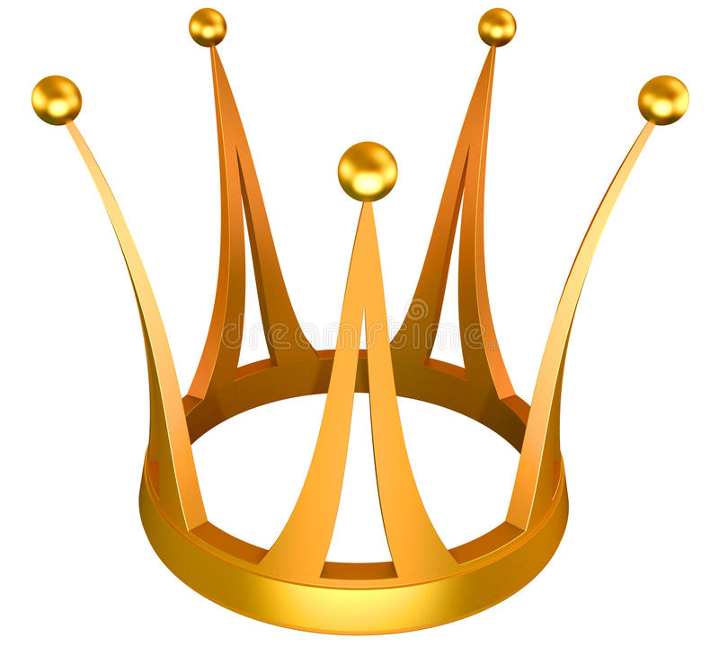 Gold Crown The Princess Royalty Free Stock Photography