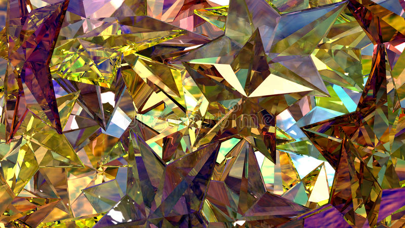 Gold Crystal Stars stock photos