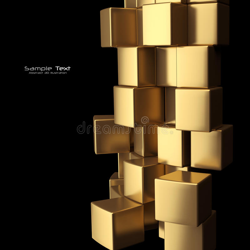 Download Gold Cubes Abstract Background Stock Illustration - Illustration: 23624999