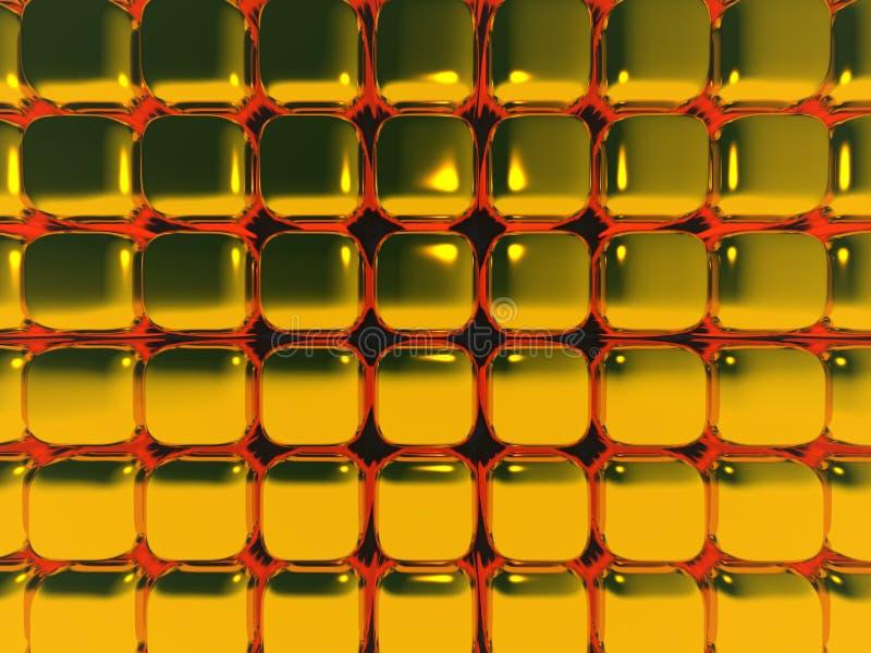 Gold Cubes in Motion Blur vector illustration