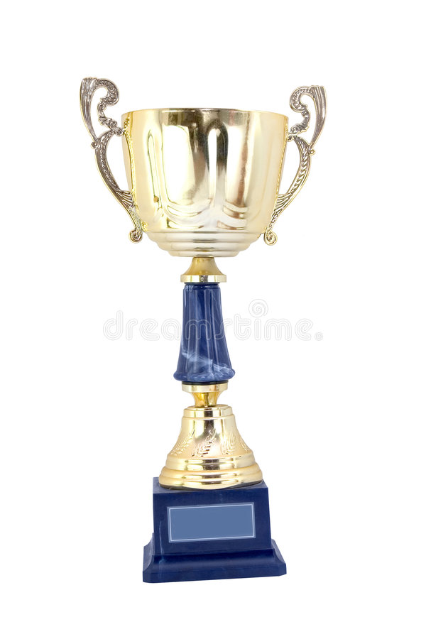 Gold cup royalty free stock photography