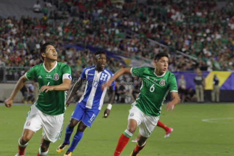 Mexico vs Honduras. Gold Cup football game at University of Phoenix Stadium in Glendale Arizona USA July 20,2017 royalty free stock photos