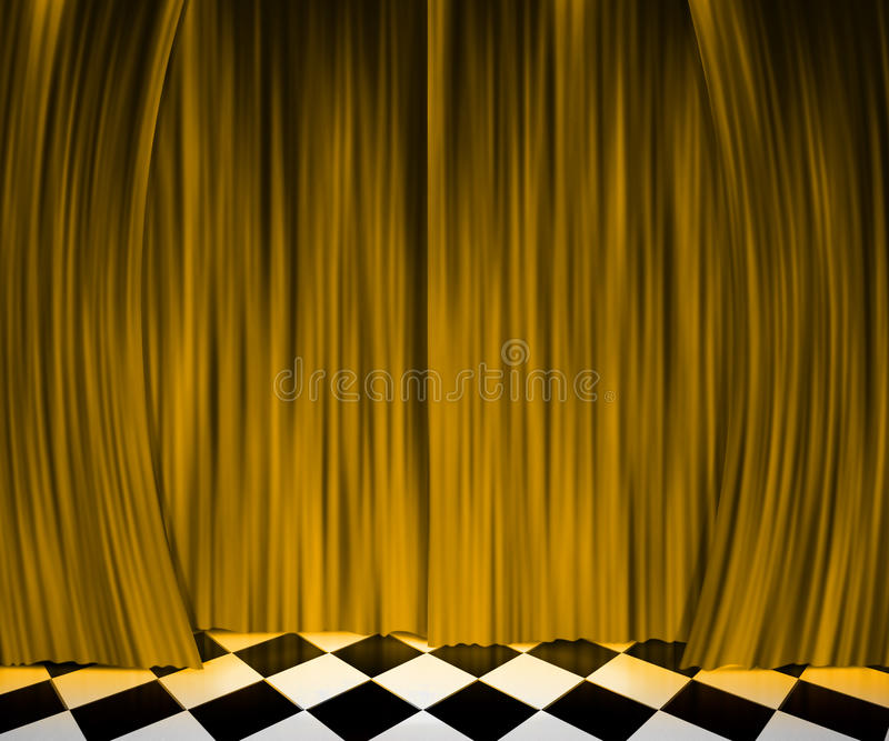 Download Gold Curtain Spotlight Stage Background Stock Photo - Image: 25117804