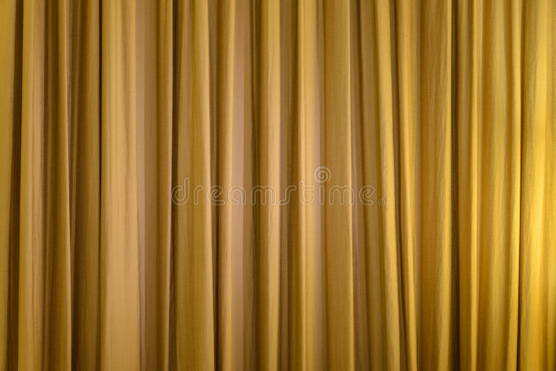 Gold curtain. Textures Background entertainment stock photo