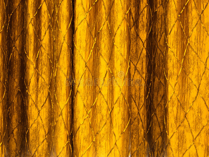 Gold curtains. Texture of Gold curtains background stock photo