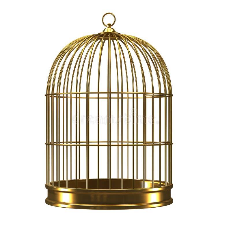 Gold3d birdcage lizenzfreie abbildung
