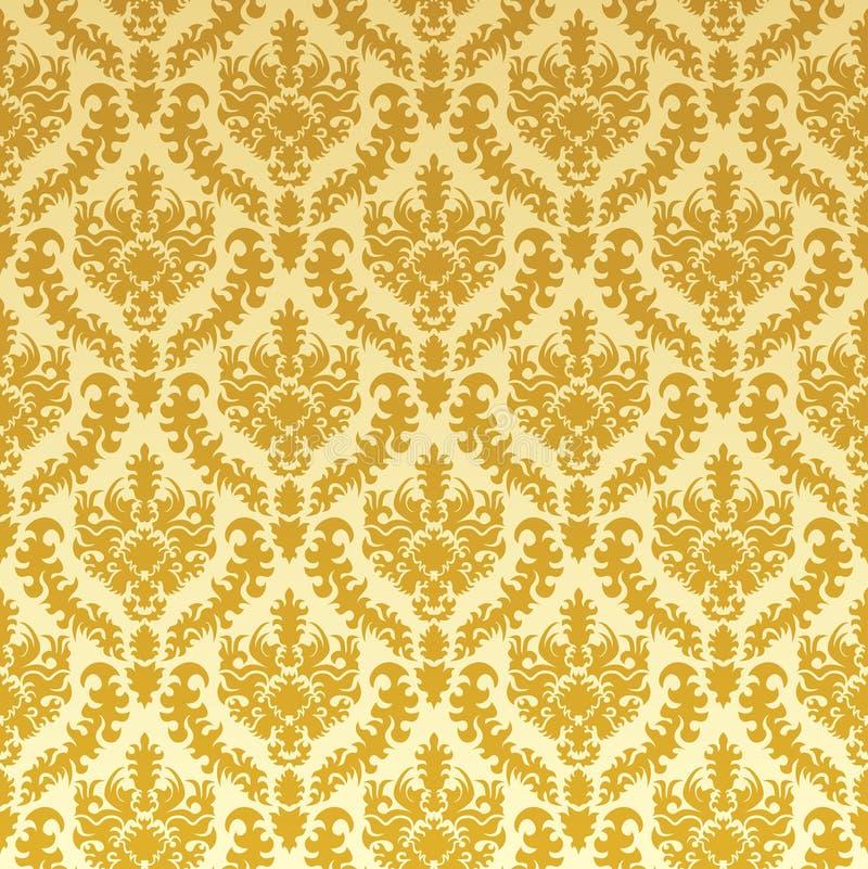 Gold damask vector illustration