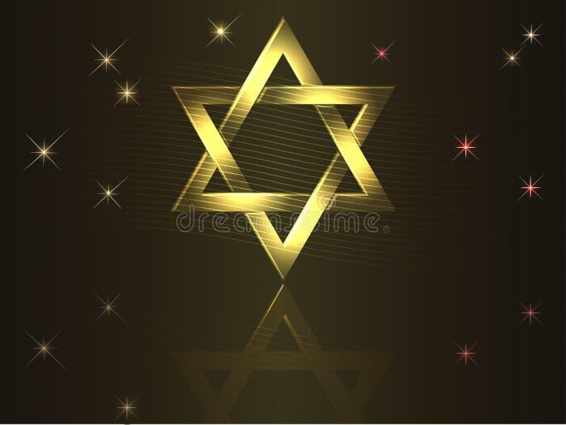 Download Gold David star. stock vector. Image of judaism, dark - 21302982