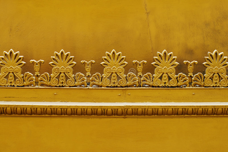 Gold decor royalty free stock photo