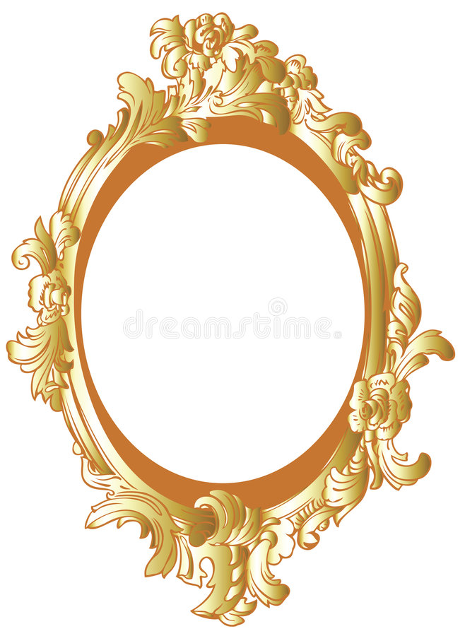 Gold decor frame royalty free illustration