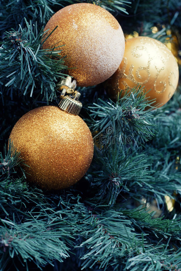 Download Gold decoration ball stock photo. Image of sphere, december - 17282608