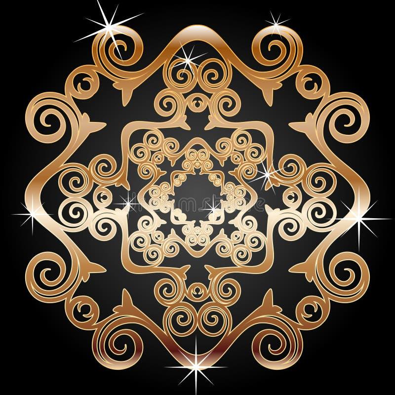 Gold Decoration Element Royalty Free Stock Photo