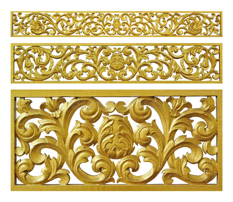 Gold decoration iron floral stock photography